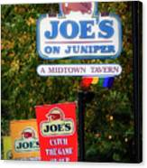Joe's On Juniper Canvas Print