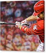 Joey Votto Baseball Canvas Print
