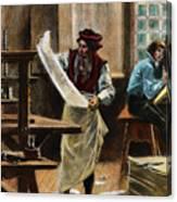 Johann Gutenberg Canvas Print
