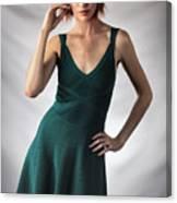 Johanne In Green Canvas Print