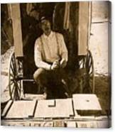 John A. Coffer  Traveling Tintype Photographer  Tombstone Arizona 1980-2009 Canvas Print