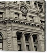 John Adams Courthouse Boston Ma Black And White Canvas Print