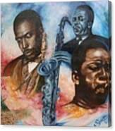 Blaa Kattproduksjoner     John Coltrane - Jazzed  Canvas Print