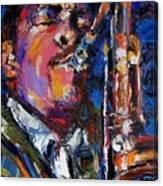John Coltrane Live Canvas Print