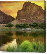 John Day River At Sunrise Canvas Print