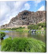 John Day River Landscape In Summer Portrait Canvas Print