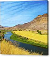 John Day River Panoramic View Canvas Print