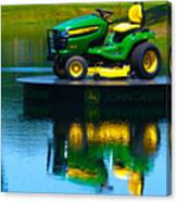 John Deere Mows The Water No 1 Canvas Print