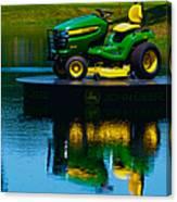 John Deere Mows The Water No 2 Canvas Print