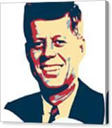 John F Kennedy Color Pop Art Canvas Print