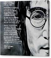John Lennon - Imagine Canvas Print