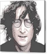 John Lennon - Parallel Hatching Canvas Print