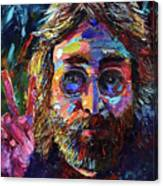 John Lennon Peace Canvas Print