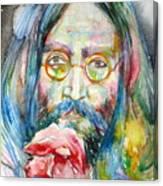 John Lennon - Watercolor Portrait.9 Canvas Print