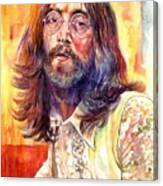 John Lennon Watercolor Canvas Print