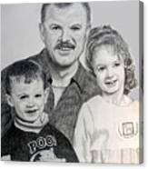 John Megan And Joey Canvas Print