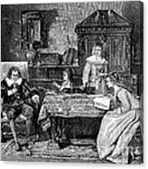 John Milton Dictating Paradise Lost Canvas Print