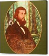 John Muir With A Chipmunk On His Shoulder Canvas Print