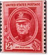John Philip Sousa Postage Stamp Canvas Print