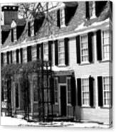 John Quincy Adams House Facade Canvas Print