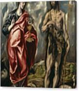 John The Baptist And Saint John The Evangelist Canvas Print