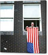 John Waves His Flag 3 Canvas Print