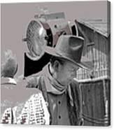 John Wayne And Director Howard Hawks  Alienated Rio Lobo Old Tucson Arizona 1970-2016 Canvas Print