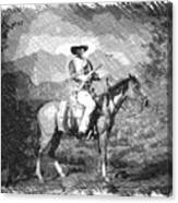 John Wayne At The Ready On Horseback Pa 01 Canvas Print