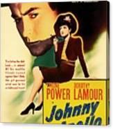 Johnny Apollo 1940 Canvas Print