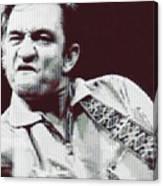 Johnny Cash Beer Cap Mosiac Canvas Print