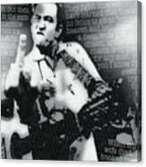 Johnny Cash Rebel Vertical Canvas Print