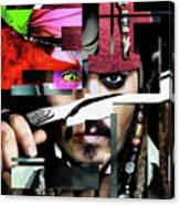 Johnny Depp - Collage  Canvas Print