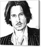 Johnny Depp Portrait Canvas Print