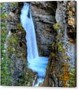 Johnston Canyon Falls Hike Upper Falls Canvas Print