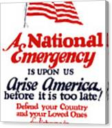 Arise America Before It Is Too Late - Join The Navy Canvas Print