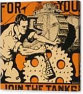 Join The Tanks Canvas Print