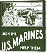 Join The Us Marines Canvas Print