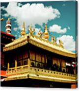 Jokhang Temple Fragment  Lhasa Tibet Artmif.lv Canvas Print