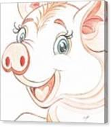 Jolly Miss Piggy Canvas Print