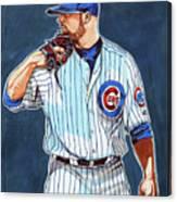 Jon Lester Chicago Cubs Canvas Print