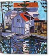 Jones Boathouse Canvas Print