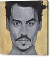 Jonny Depp  Canvas Print