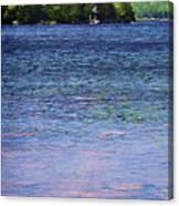 Jordan Pond Tryptych Left Canvas Print