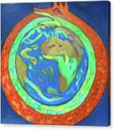 Jormungandr Canvas Print