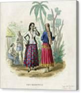 Josefa Martines Et Panchita Reyes Canvas Print