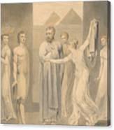 Joseph And Potiphar's Wife Canvas Print