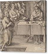 Joseph Interprets The Dreams Of The Pharaoh Canvas Print