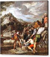 Joseph Sold By His Brothers Canvas Print