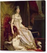 Josephine In Coronation Costume Canvas Print
