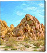 Joshua Tree Rocks Canvas Print
